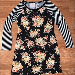 Floral & Stripes Dress Soft